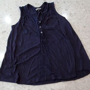 Navy blue v neck with 3 buttons